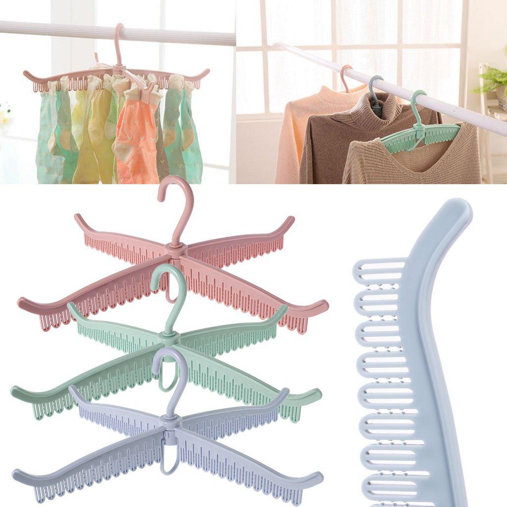 Gjyia Multifunktionstuch Socken Aufh/änger W/äschest/änder Faltbare Badezimmer W/äscheklammer Clip