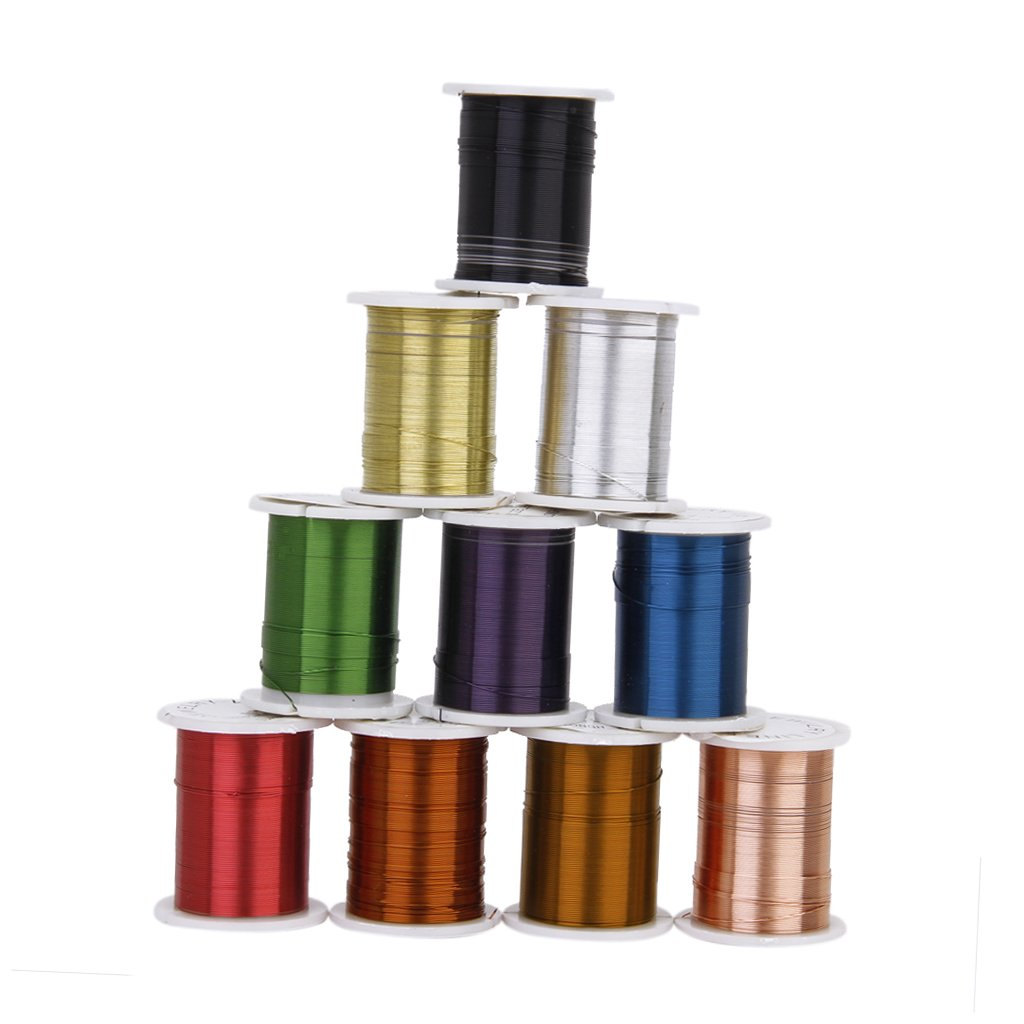 10 Rolls of Copper Wire Beading Thread Cord for DIY Jewellery Making Mixed Color---0.3mm L-FENG-UK VBPAZKSFAZA119