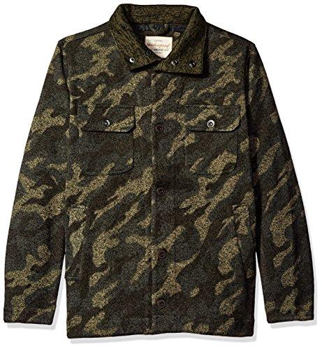 Weatherproof Vintage Men's Knit Shirt Jacket, Camo, (Knit Shirt Jacket)