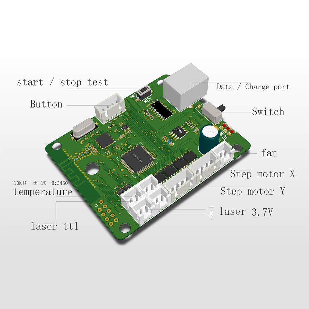 Win8 XP Win10 Vogvigo 20000mw CNC Laser Graviermaschine Mini Desktop Laserengraver,Logo Markierungsdrucker f/ür Metallgravur undTiefholzgravur,Unterst/ützung Win7 neje scanner android APP