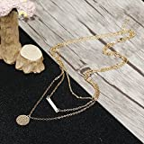 Udalyn 1-2 PCS Tassel Choker Necklace Alloy Long Necklace Chain Set For Women Girl Silver-tone Gold-tone