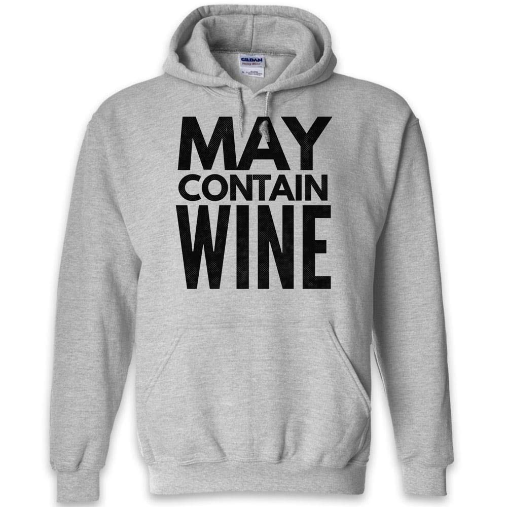 Dark Heather Teelaunch May Contain Wine Funny Hoodie Hoodie Hoodie   Black Navy Grey   S to 2XL 3645e1
