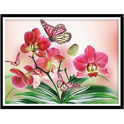 5D Diamond Painting F Staron Butterfly Flower Diamond Embroidery Painting Cross Stitch Kit 5D Diamond Painting Embroidery DIY Art Craft Home Decor