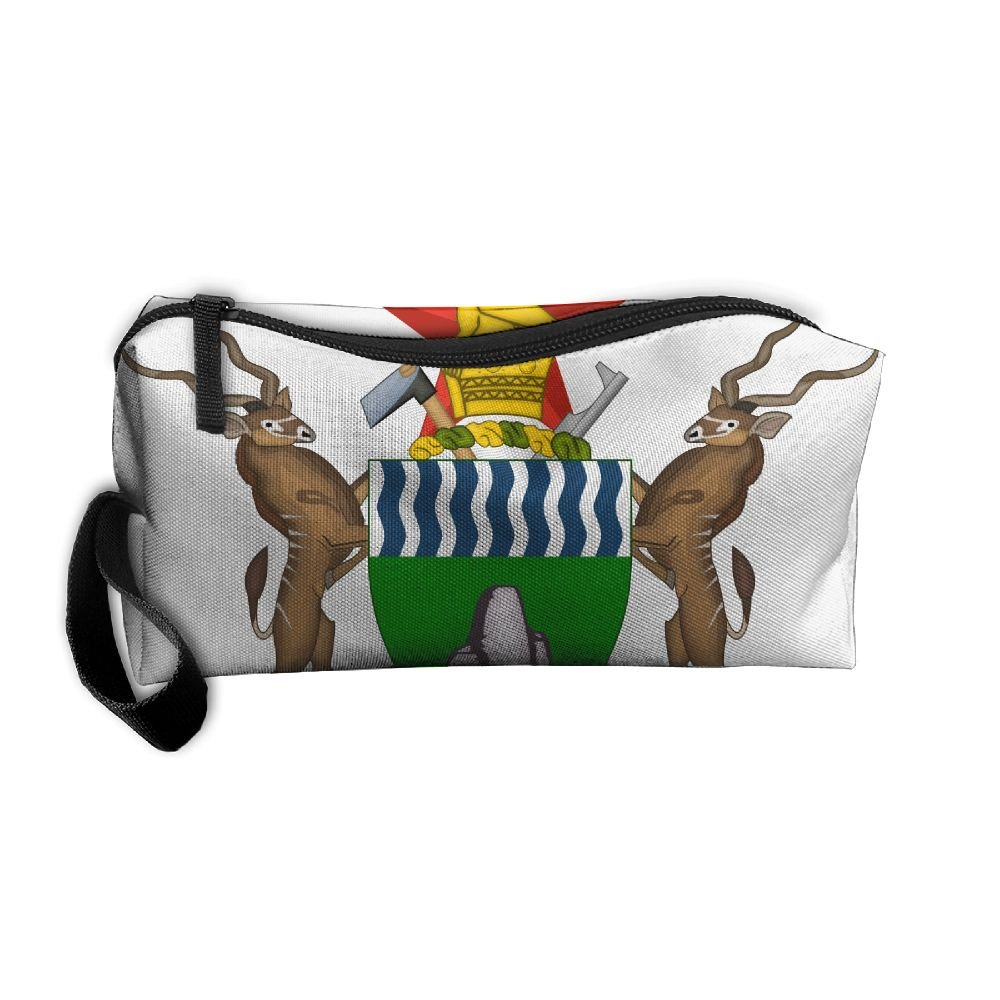 HSs4AD Coat Of Arms Of Zimbabwe Cosmetic Bag Travel Toiletry Bag Portable Makeup Pouch Hanging Organizer Bag
