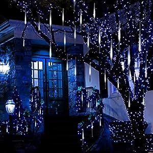 Amazon.com : Anlising Falling Rain Lights, Meteor Shower Led Rain Lights 8 Tubes 136 LED(11.8 ...