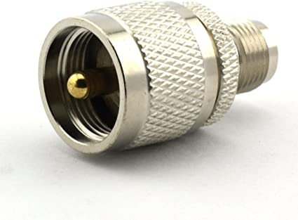 Maxmoral BNC Male to UHF Male PL-259 PL259 Connector RF Coax Coaxial Adapter