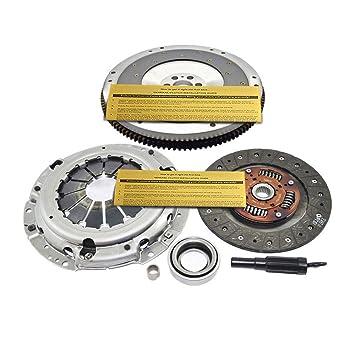 exedy Kit de embrague + Fidanza de volante de aluminio para 91 - 98 Nissan 240sx 2.4L DOHC 4 CY: Amazon.es: Coche y moto
