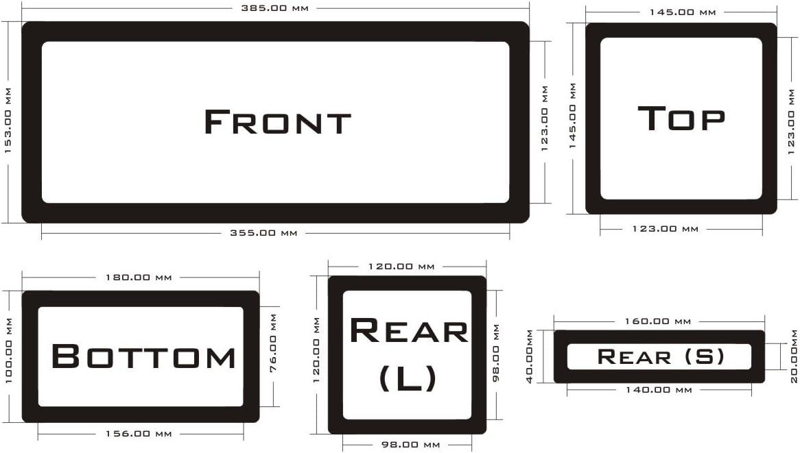 Black Frame//Black Mesh DEMCiflex Dust Filter Kit for NZXT S340