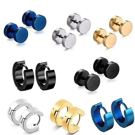 9a97877ba7ec hopewey Pendientes de botón de Acero Inoxidable