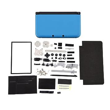 Zerone Completamente Completa Carcasa Carcasa Shell reparación Piezas Kits de Piezas para Nintendo 3DS XL(Azul)