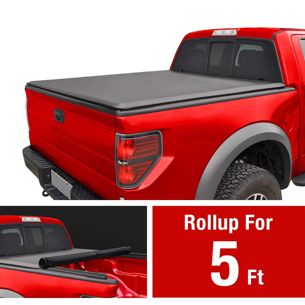 MaxMate Roll Up Truck Bed Tonneau Cover Works with 2005-2019 Nissan Frontier; 2009-2014 Suzuki Equator | Fleetside 5' Bed