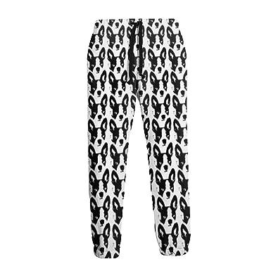 Pantalones de Chándal Negros y Blancos con Perfil de Patrón Keji ...