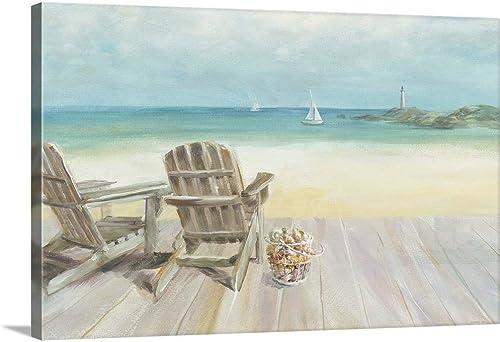 Seaside Morning no Window Canvas Wall Art Print