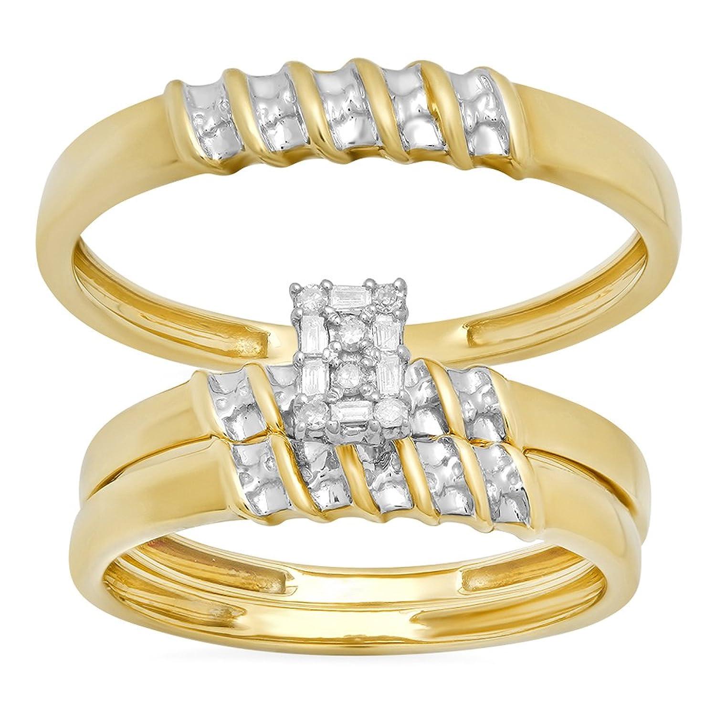 Amazon 0 10 Carat ctw 10k Yellow Gold Round Diamond La s
