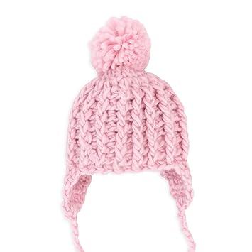 Pesci Baby Mütze Winter Strick Mädchen rosa   Motiv  Bommel   Bommelmütze  zum Binden für b69813f3d6