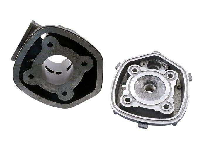 Cilindro Kit 50 ccm Incluye Cabeza para Aprilia Sr 50 cc, Derbi Atlantis, GP1, Racing, Evolution, Roller: Amazon.es: Coche y moto