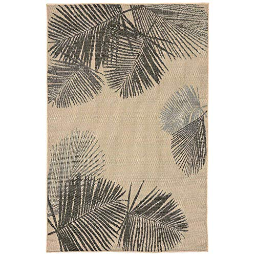 Liora Manne TE380A74567 Terrace Casual Botanical Tropical Palm Leaves Indoor/Outdoor Area Rug, 7'10