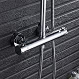 Thermostatic Faucet Valve Maserfaliw Intelligent Thermostatic Double Outlet Shower Faucets Bathroom Angle Valves, Housewares, Offices, Outdoor, Holiday Gifts.