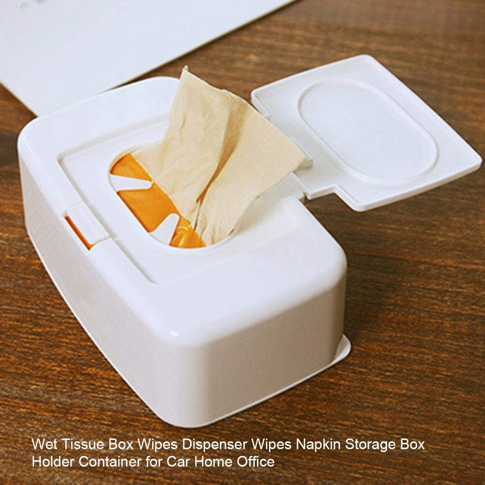 17x10.5x6cm yummyfood Feuchtt/ücherbox Pfleget/ücher Boxen Taschentuchbox Reinigungst/ücher Box Mit Deckel F/ür Auto Home Office