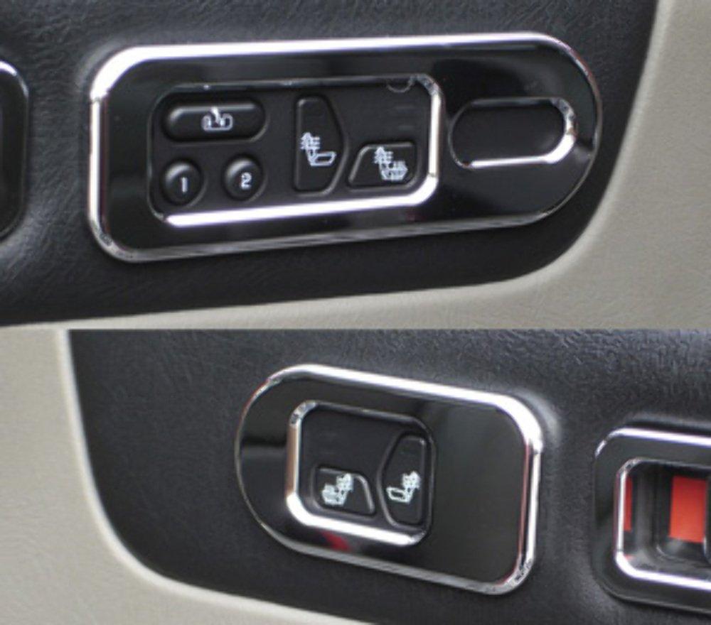 Pirate Mfg H20028SC 2003-2007 H2 Hummer SUV /& SUT Chrome Billet Heat Indicator Bezel Set