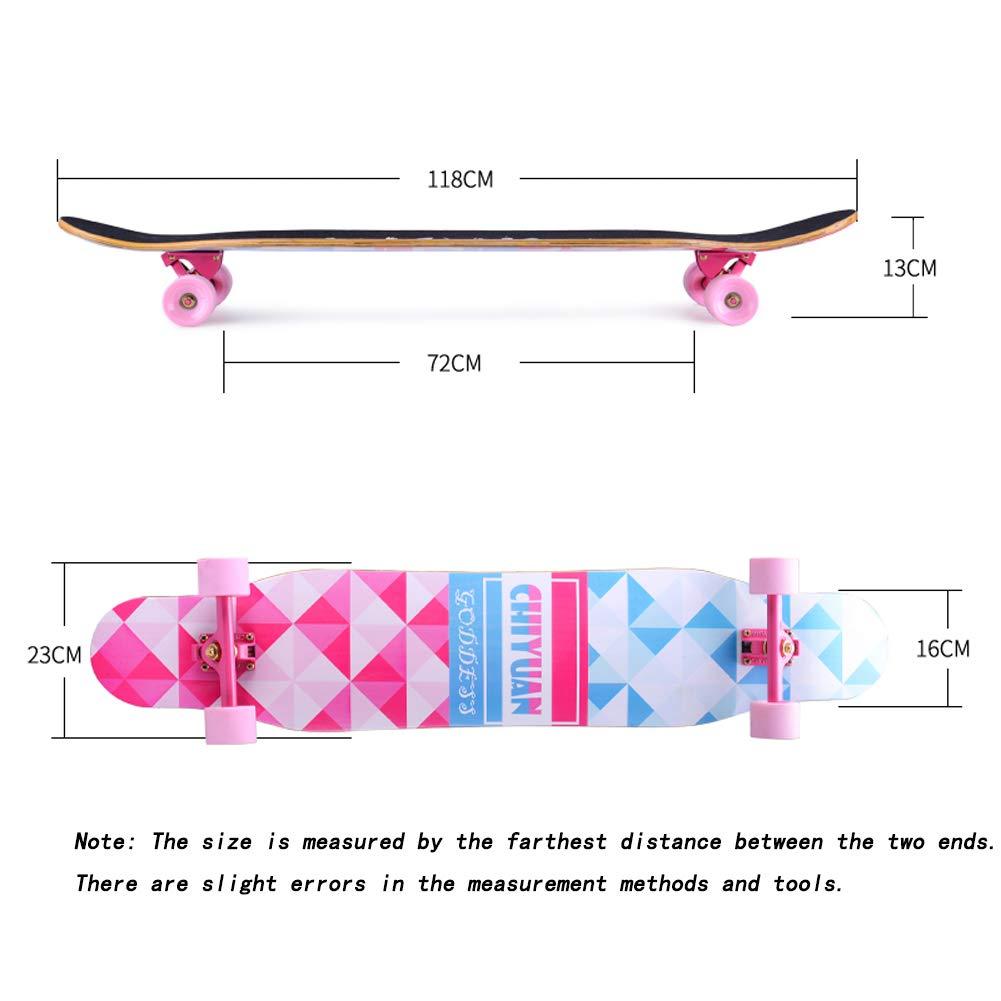45 Inch Longboard Longboard Longboard Skateboard Komplett Board Cruiser Aus 7-Lagigem Ahornholz,Und ABEC-11 Kugellager Und 95A Rollenhärte, 15 Farben Wählbar   Professionelle Männer Und Frauen Erwachsene Tanztanzbrett B07KCWK4VT Longboards Modebewegung bf01e9