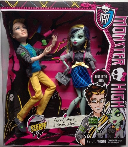 Monster High Picnic Casket 2 Pack - Jackson Jekyll and Frankie Stein (Monster High All Boy Dolls)