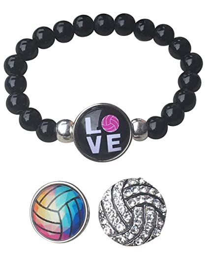 Amazon.com: Sportybella - Pulsera de voleibol intercambiable ...