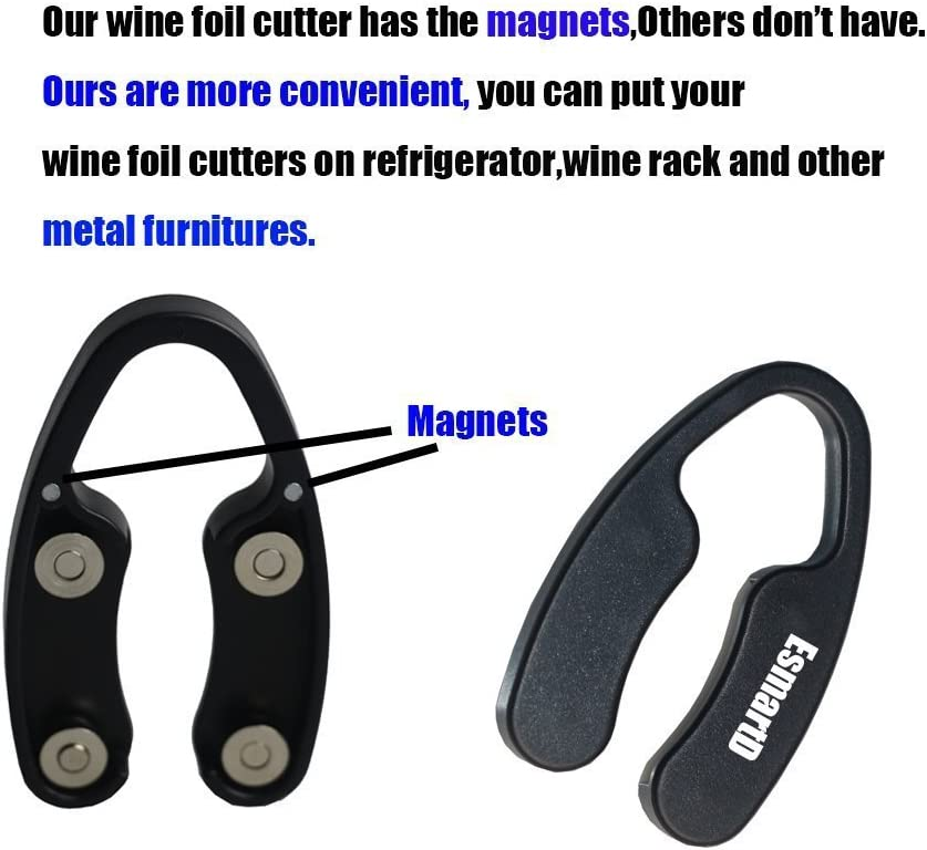 "2 Pcs Speed Easy Switchblade Wedding /"" Set Premium Magnetic Wine Foil Cutter"
