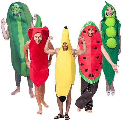 RunJuWuYe Mono Divertido Disfraz de Halloween para Adultos Túnica ...