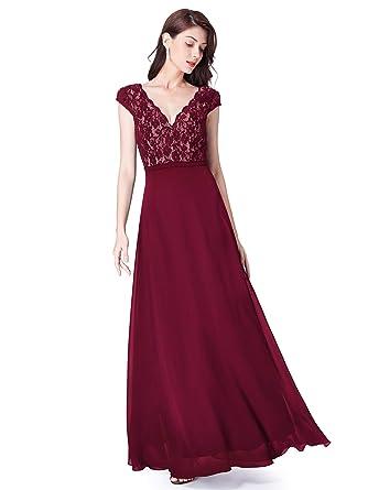 size 40 f8174 dc80e Ever-Pretty Vestito da Sera da Sera Elegante da Donna con Scollo a V  Elegante 8633