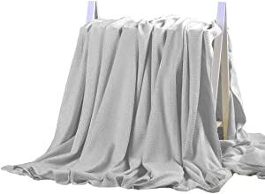 DANGTOP Bamboo Blanket - All Seasons Thin Cooling Blanket for Adults and Teens. (59x79 inches, Light Grey)