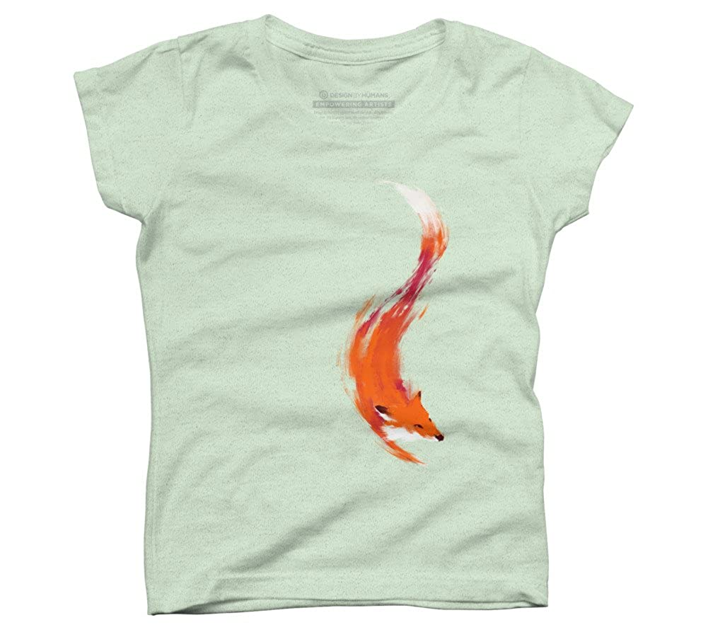 64bbdf03c Amazon.com: Design By Humans Quick Orange-Red Fox Girl's Youth Graphic T  Shirt: Clothing