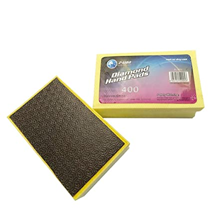 MagiDeal Diamond Polishing Hand Pad Block for Granite Marble