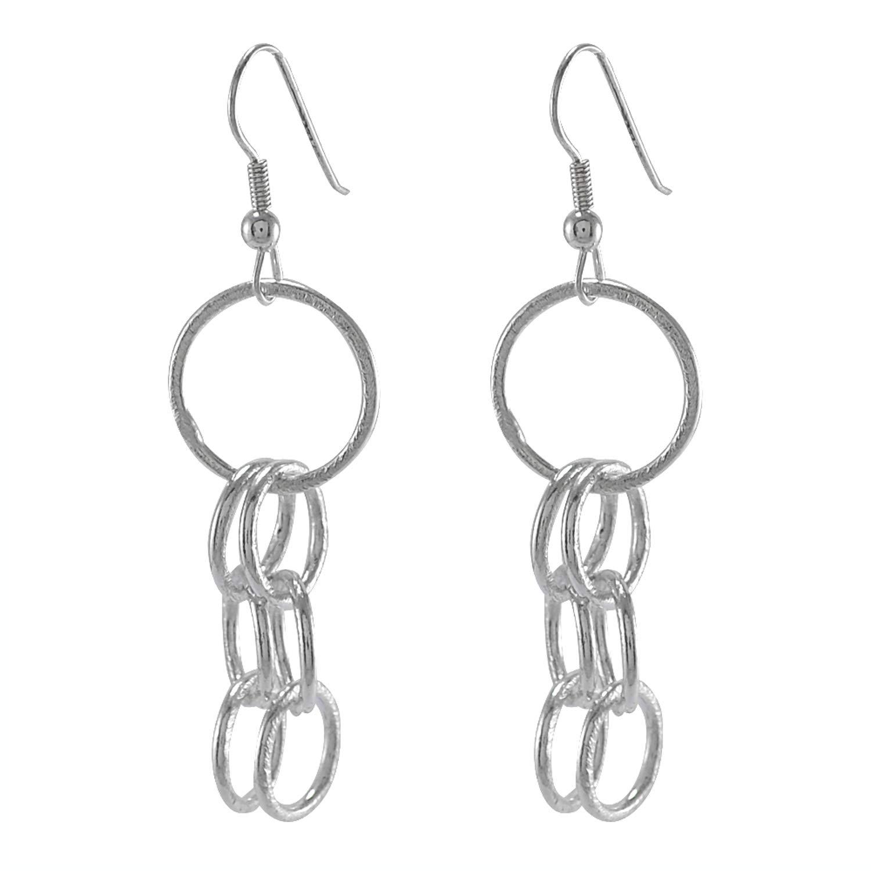 Silvestoo Jaipur 925 Silver Plated Dangle Ear Wire Earring For Women /& Girls PG-126180