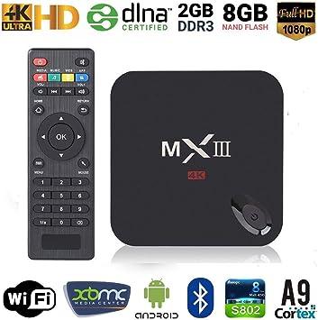 MX Android 4.2 TV Box Dual Core Smart TV Box reproductor multimedia de Streaming para ver la televisión, Internet WiFi 1080P de conexión LAN: Amazon.es: Electrónica