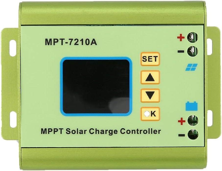 ForceSthrength Regolatore di Carica per regolatore Solare LCD MPPT 24//36//48//60 72V Boost MPT-7210A
