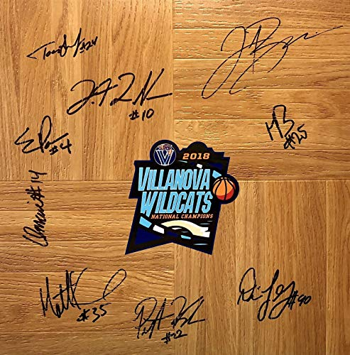 (2018 VILLANOVA WILDCATS AUTOGRAPHED Team Signed FLOORBOARD FINAL FOUR CHAMPIONS w/COA)