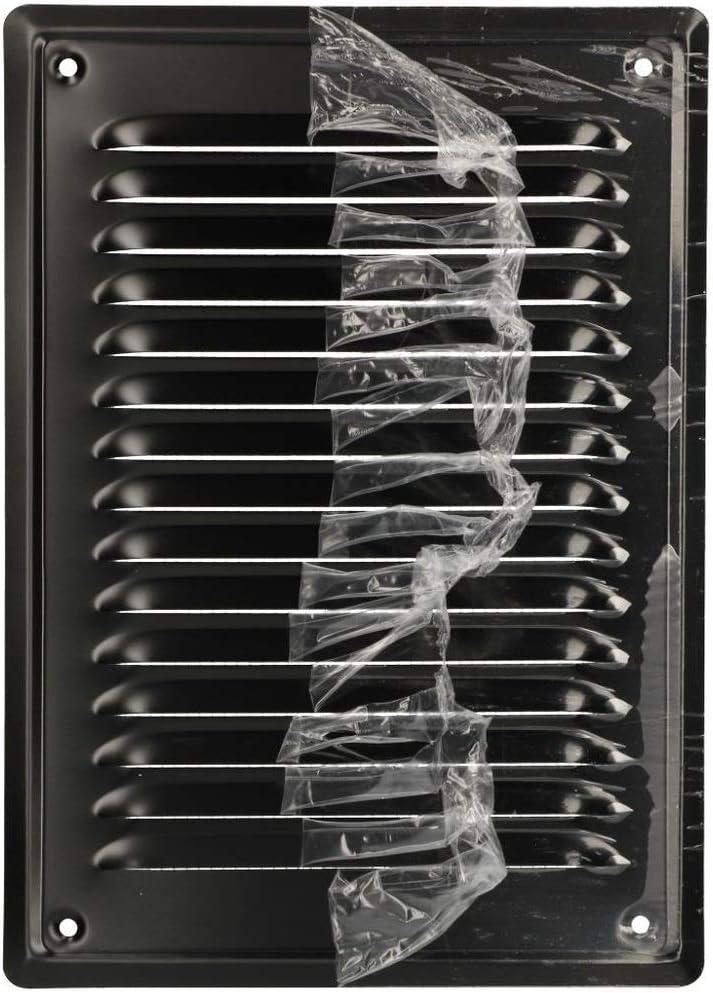Kotarbau Grille da/ération en acier galvanis/é avec rev/êtement en poudre 230 x 165 mm noir