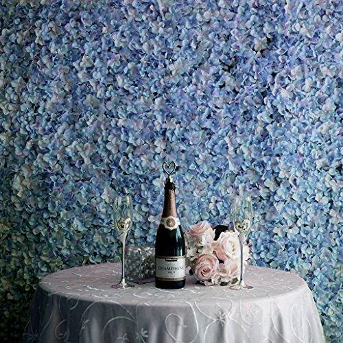 Efavormart 4 PCS Serenity Blue Silk Hydrangea Flower Mat Wall Wedding Event Decor