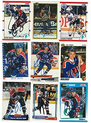 Edmonton Oilers Lot of 9 Autographed Cards. You will receive all cards in  the picture. This Lot includes  Craig Simpson 6172c5b10