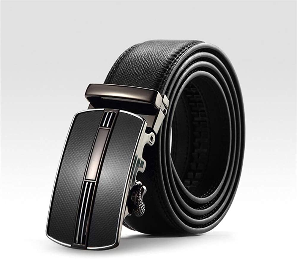 Martino Mens Belt for Dress Leather Belt for Men Fashion Black Belt Automatic Buckle With a Gift Box