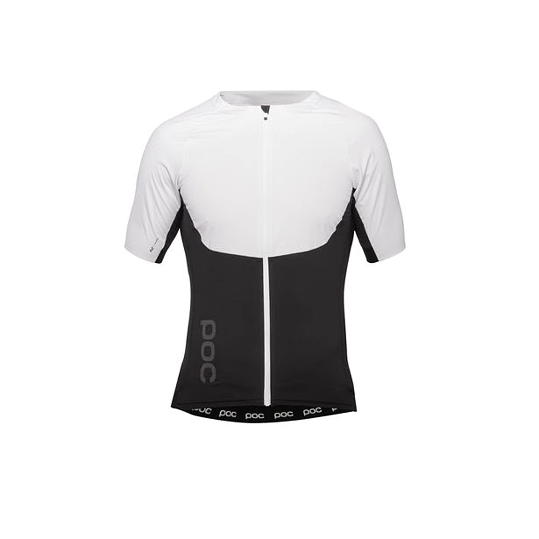 POC 2018メンズRaceday XC Zip Short Sleeve Cycling Tee – 52305 B07B2NKJMJ LRG|Hydrogen White/Uranium Black Hydrogen White/Uranium Black LRG