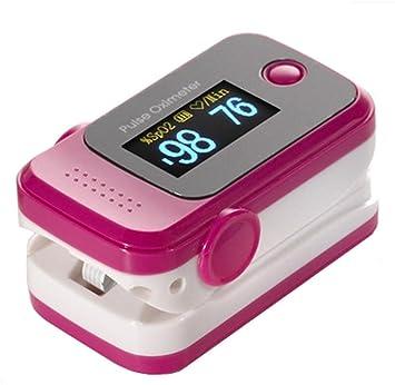 Oxímetro de dedo Clip tipo detector de detección de pulso medidor de frecuencia cardíaca hogar médico? El producto no contiene pilas?, rosa: Amazon.es: ...