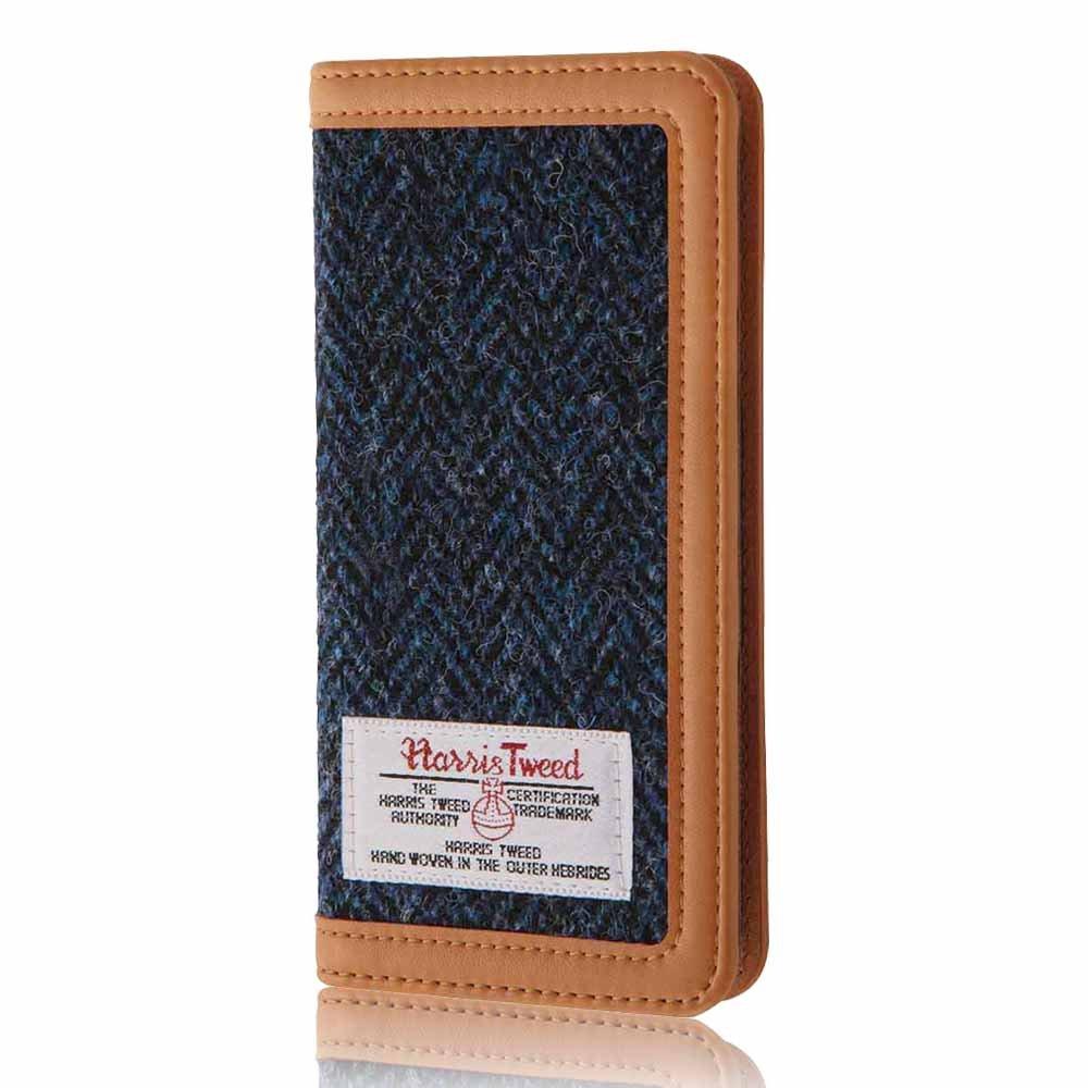 レイ・アウト iPhone 7 手帳型 ケース ハリスツイード/ブルーヘリンボーン RT-P12FBC4/HA