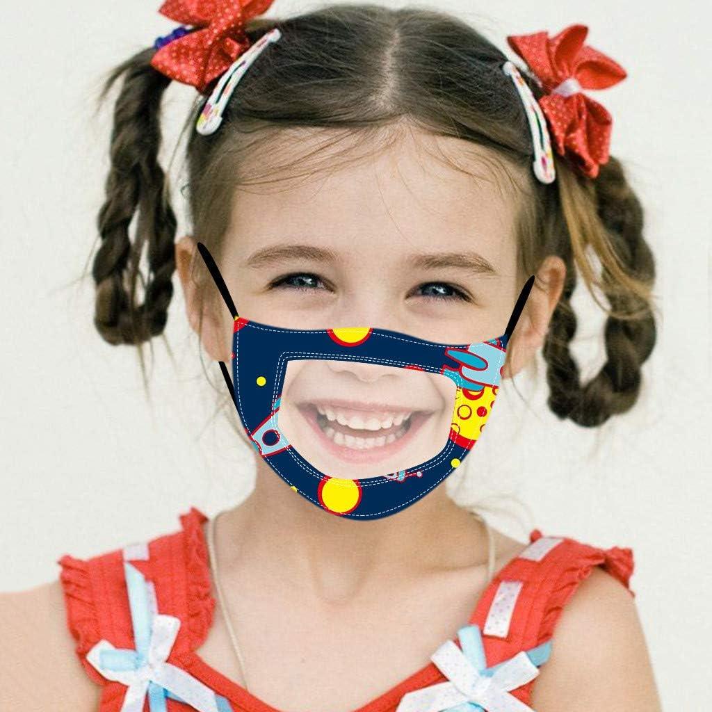 Rosennie Kinder Mundschutz Multifunktionstuch Mund-Nasenschutz Atmungsaktiv Waschbar Bandana Ma-ske Halstuch Schals,f/ür Jungen M/ädchen 4-12 Jahre