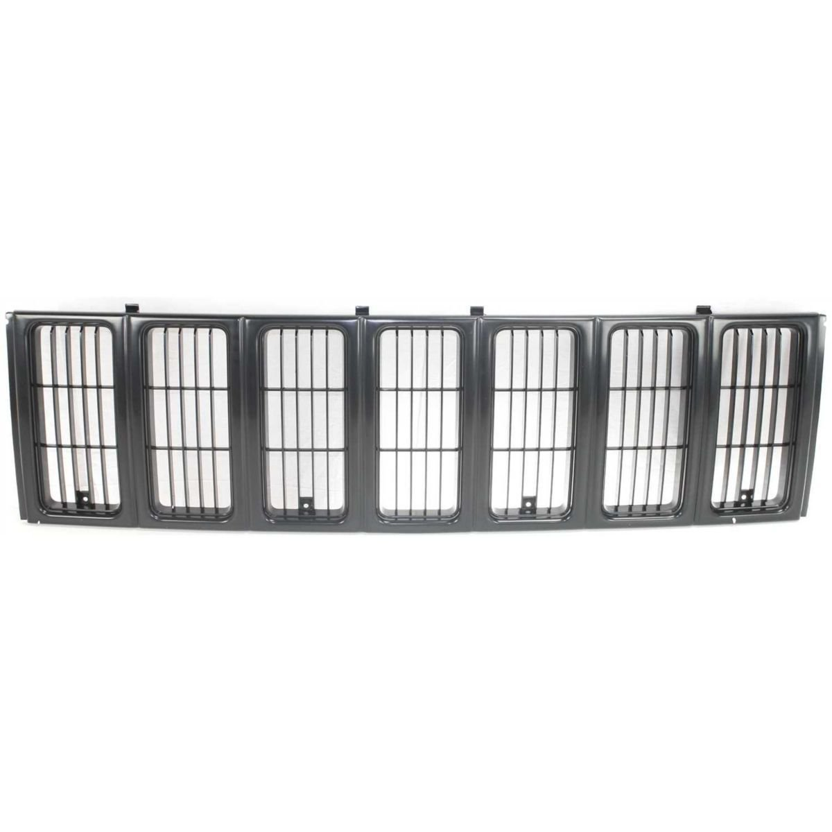 DAT NEW 1997 - 2001 Jeep Cherokee MIDSIZE SE / SPORT MODEL BLACK PLASTIC FRONT GRILLE GRILL ASSEMBLY CH1200208 DAT AUTO PARTS