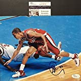 Autographed/Signed Stephen Steph Curry Davidson Wildcats 8x10 Basketball Photo JSA COA