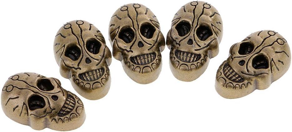 sharprepublic 5 S/ätze Totenkopf Nieten Ziernieten Schrauben Nieten G/ürtel-Nieten Schmucknieten f/ür Schuhe G/ürtel Taschen Leder Bronze 21x15mm