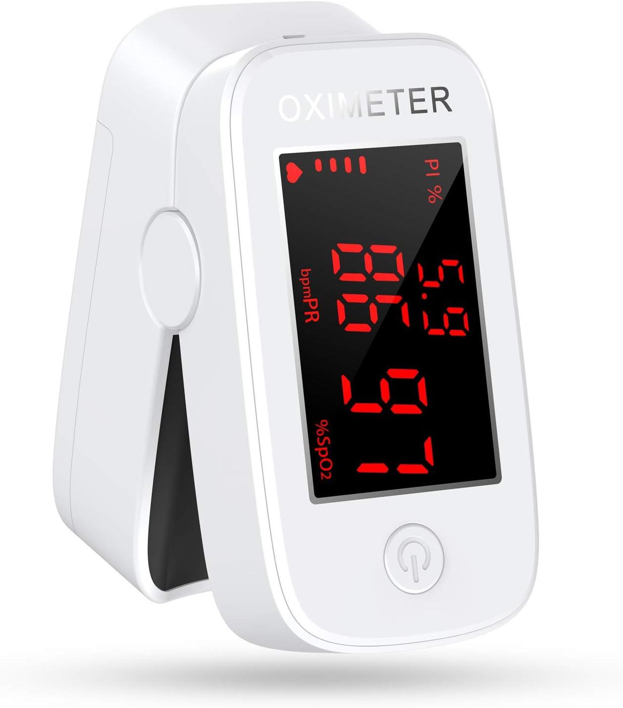 konjac oximetro dedo, Medidor de oxigeno en sangre, Pulsioximetro de dedo profesional, Saturimetro de dedo, Medir saturacion oxigeno (SpO2), PR (frecuencia del pulso), PI (índice de perfusión)