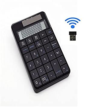 Teclado y # xFF06; calculadora, teclado numérico inalámbrico USB teclado numérico Numpad con 29
